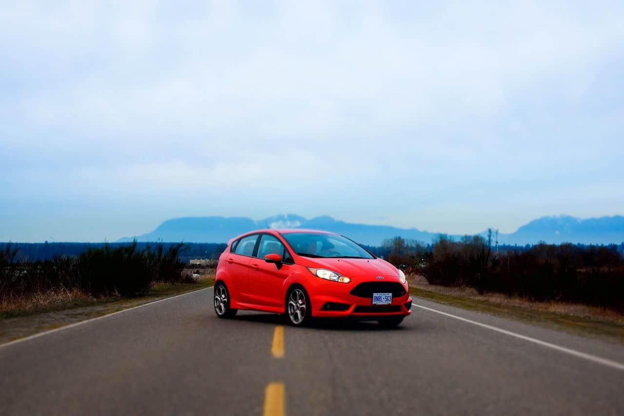2014 Ford Fiesta ST orange
