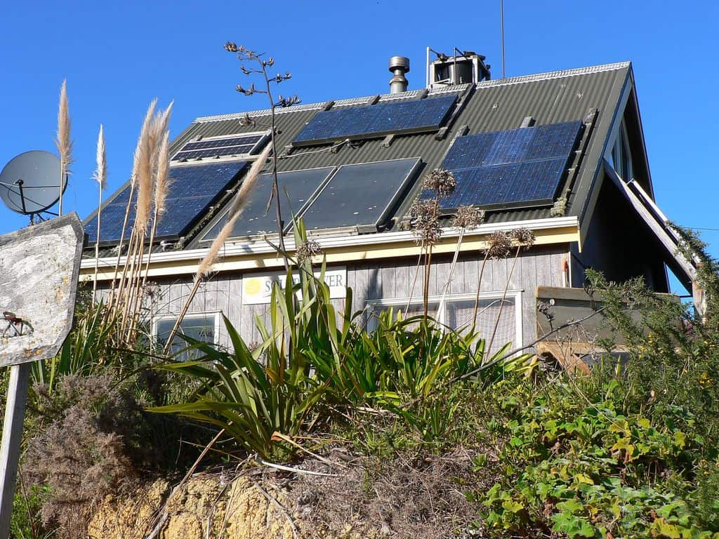 home solar panels on roof