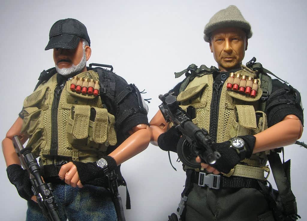 toys wearing tactical vests