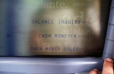 withdrawing cash money