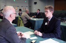 young man at job interview