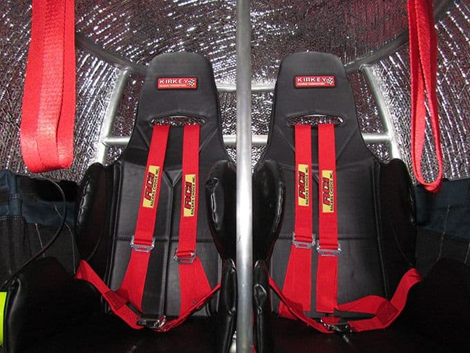 seats inside survival capsule