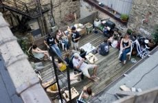 people on the patio bbq