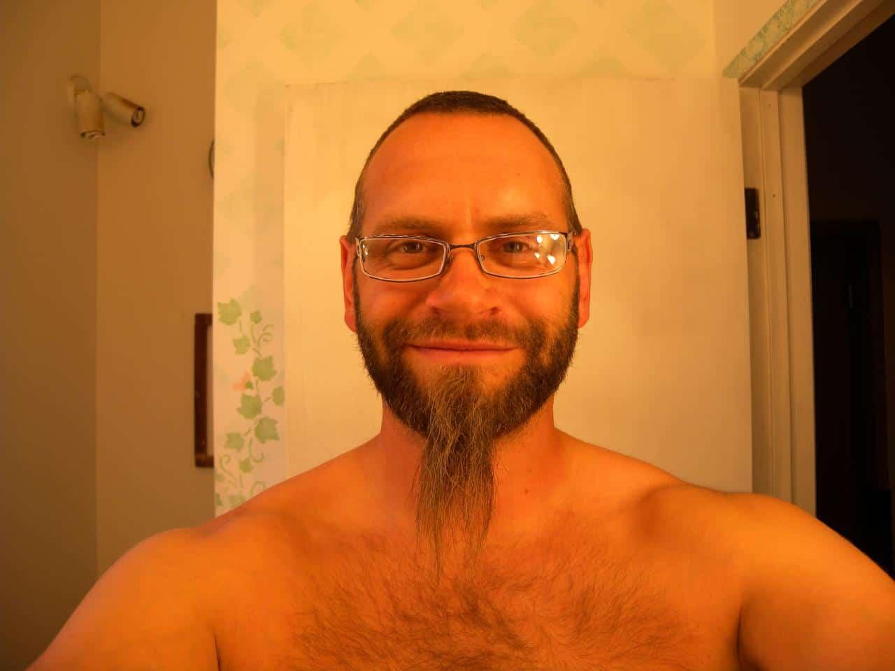 man posing beard