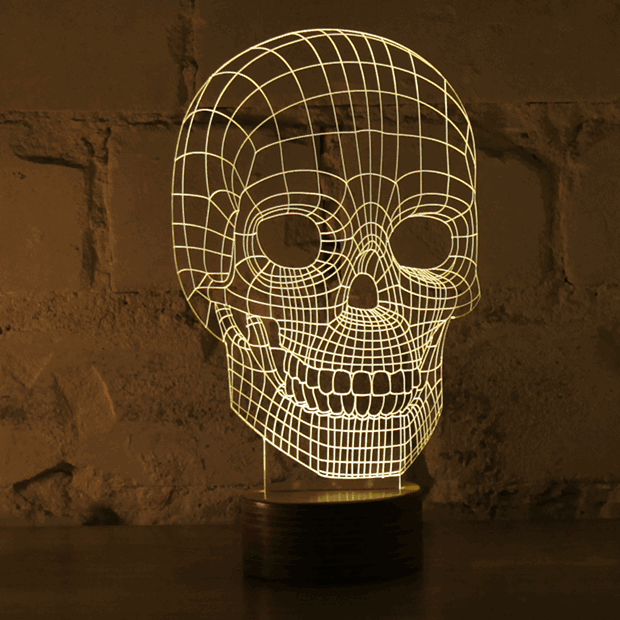 bulbing awesome optical illusion led lamp unfinished man