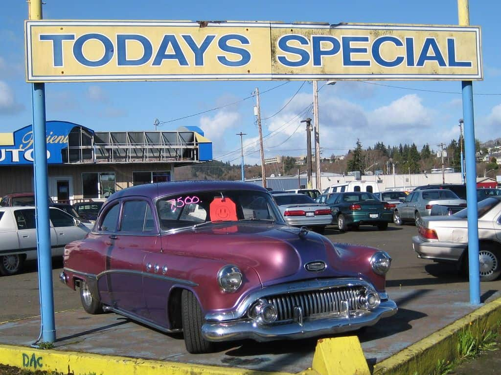 old buick used car lot