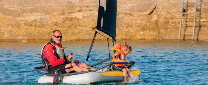 inflatable sail boat