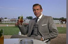 bond drinking at horse track