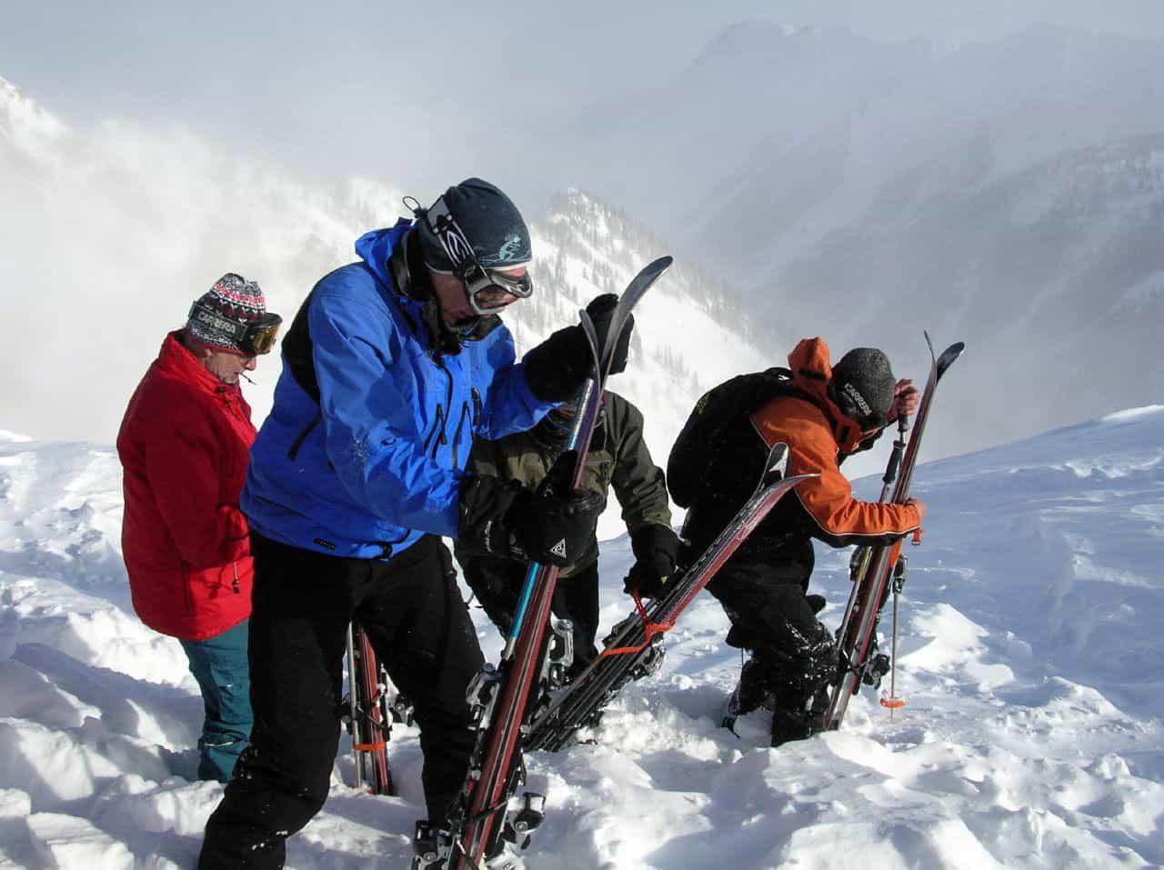 people skiing in british columbia