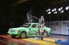 Alpinestars airbag crash test