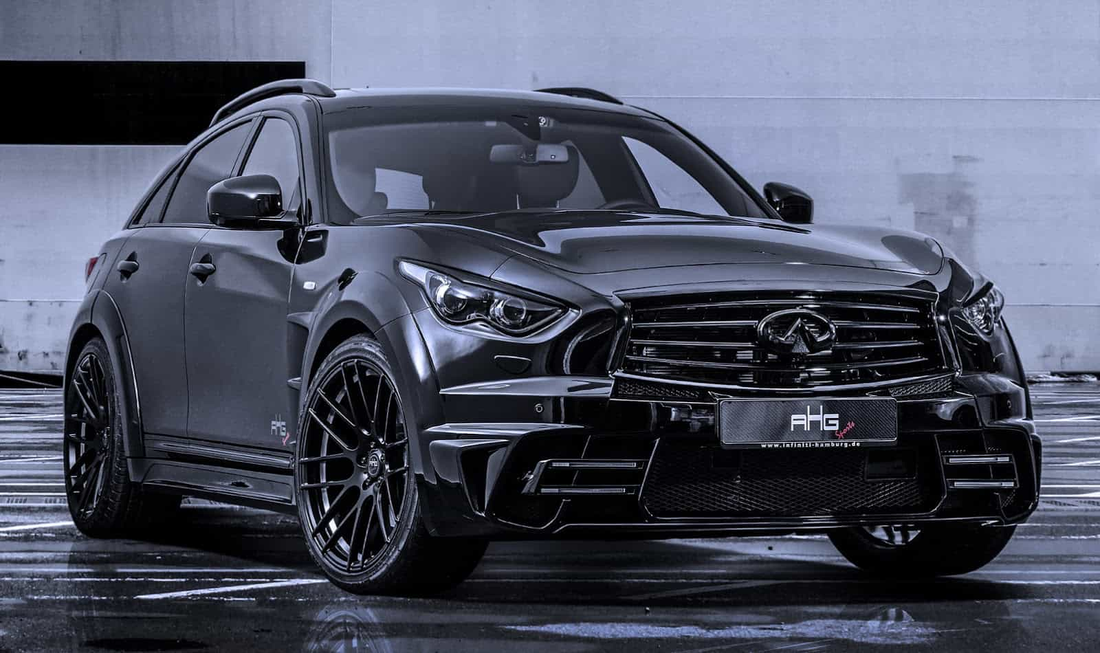 infiniti qx70 lr3 wide body kit by ahg sports unfinished manunfinished man. Black Bedroom Furniture Sets. Home Design Ideas