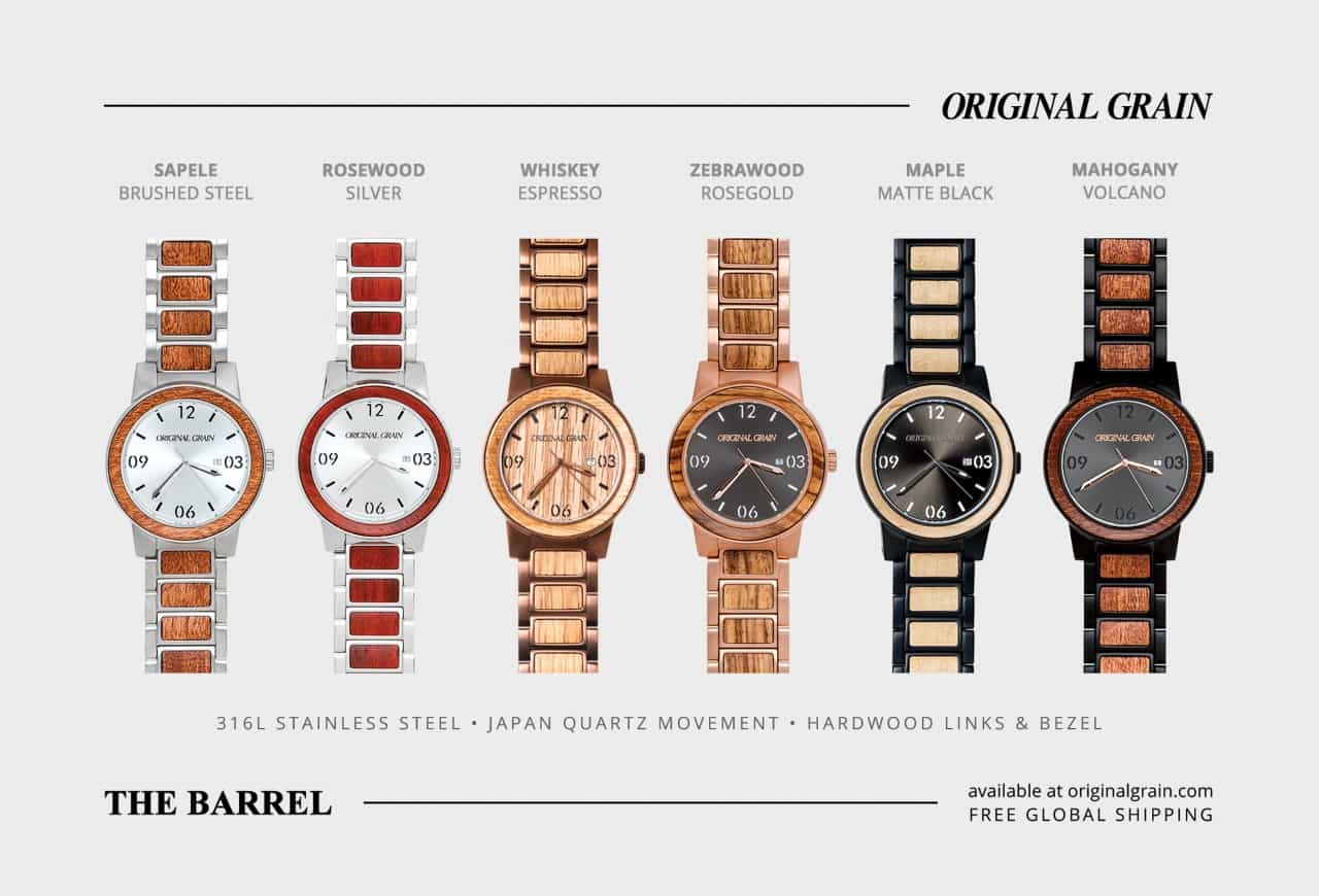 original minimalist watches products by grain whiskey espresso