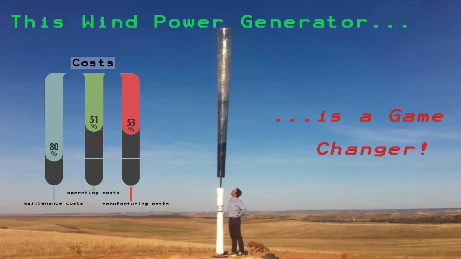 Vortex Bladeless Wind Turbine Without The Blades