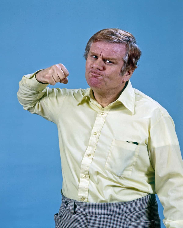 1970s MAN RAISING FIST...
