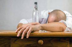 alcoholic man sleeping