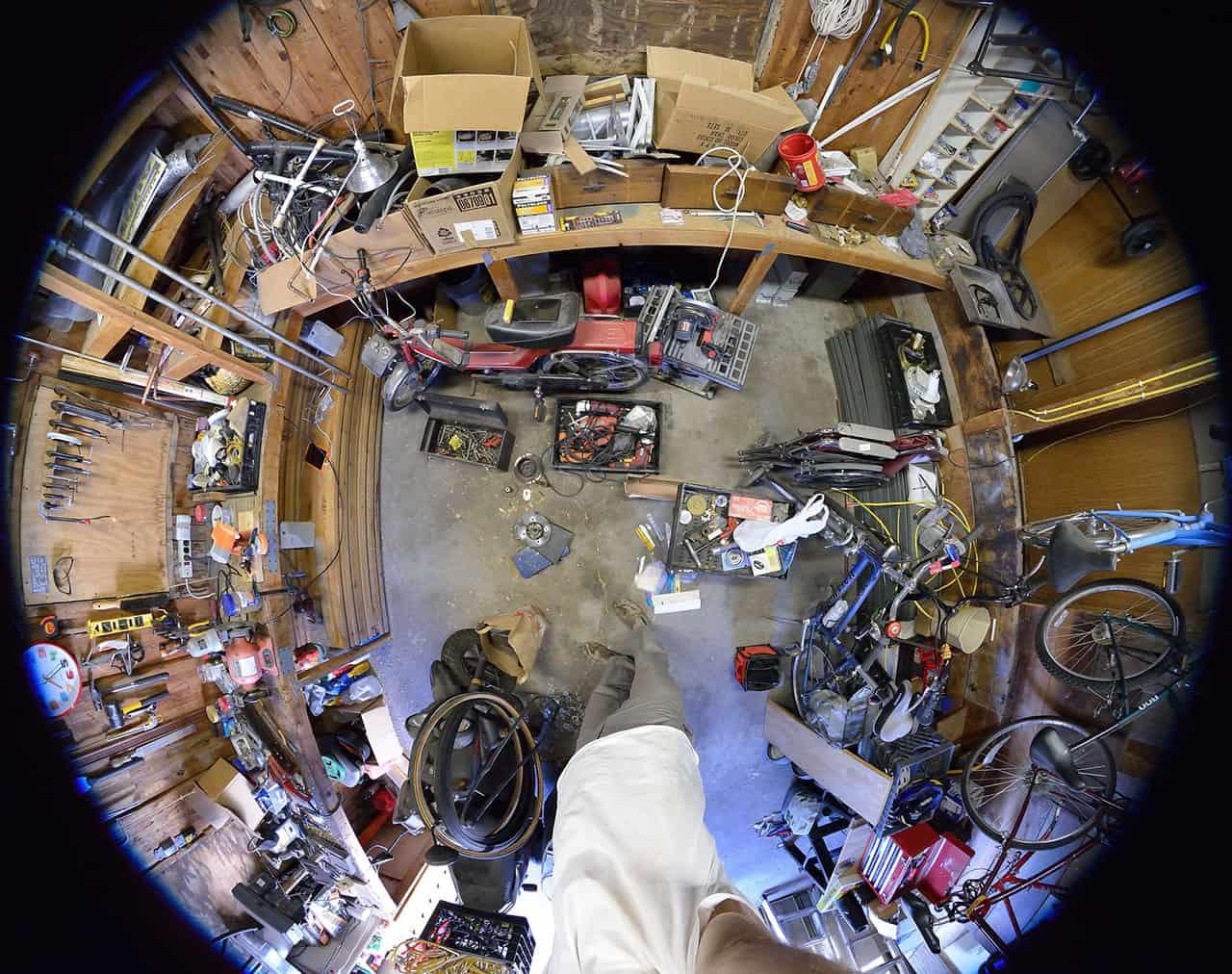 very messy garage