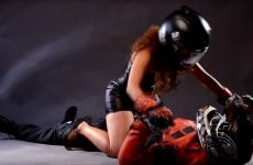 woman motorcycle positions