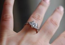 diamond ring on finger