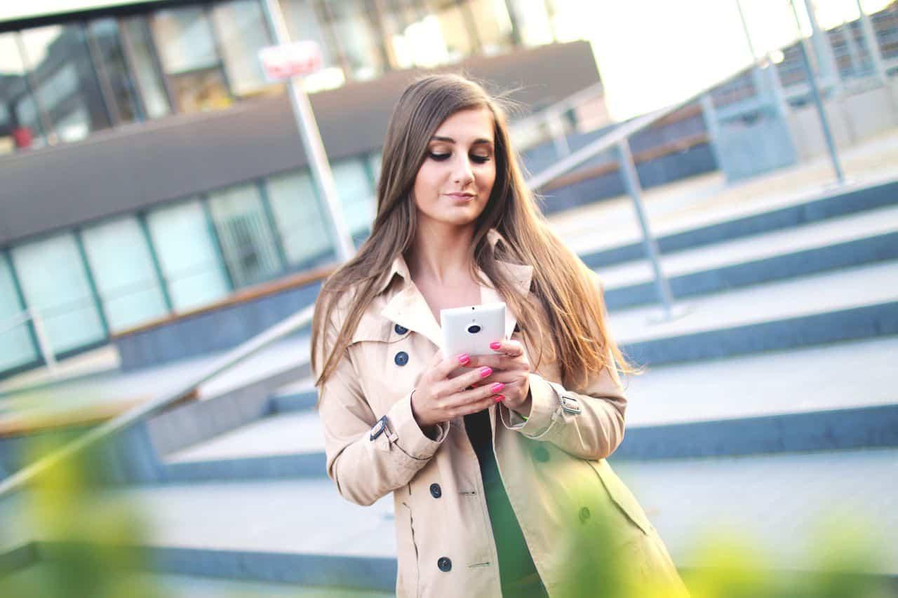 sexy woman using phone