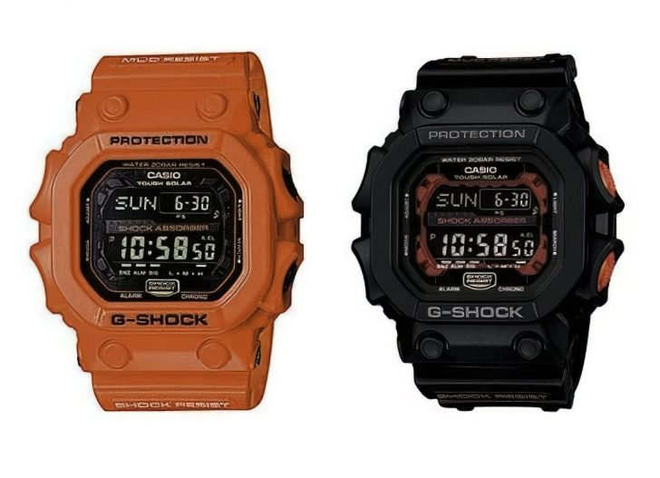 Casio G Shock GX56 1A and GX56 4 upscaled