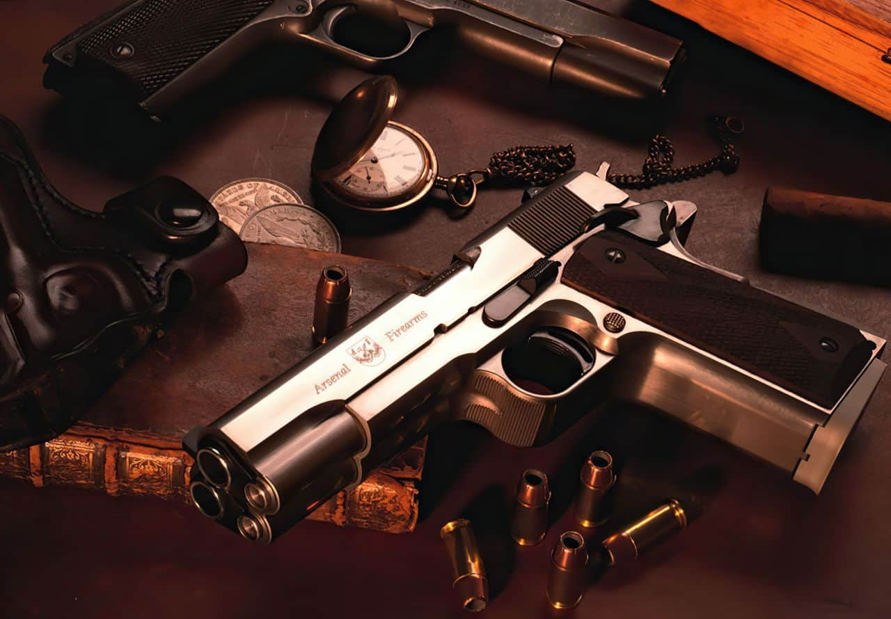 af2011 a1 double barrel pistol with watch