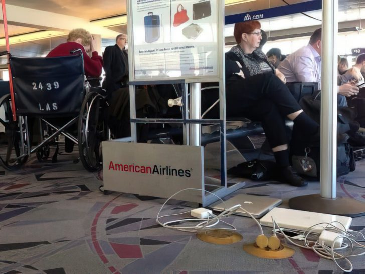 american airlines delay lounge area