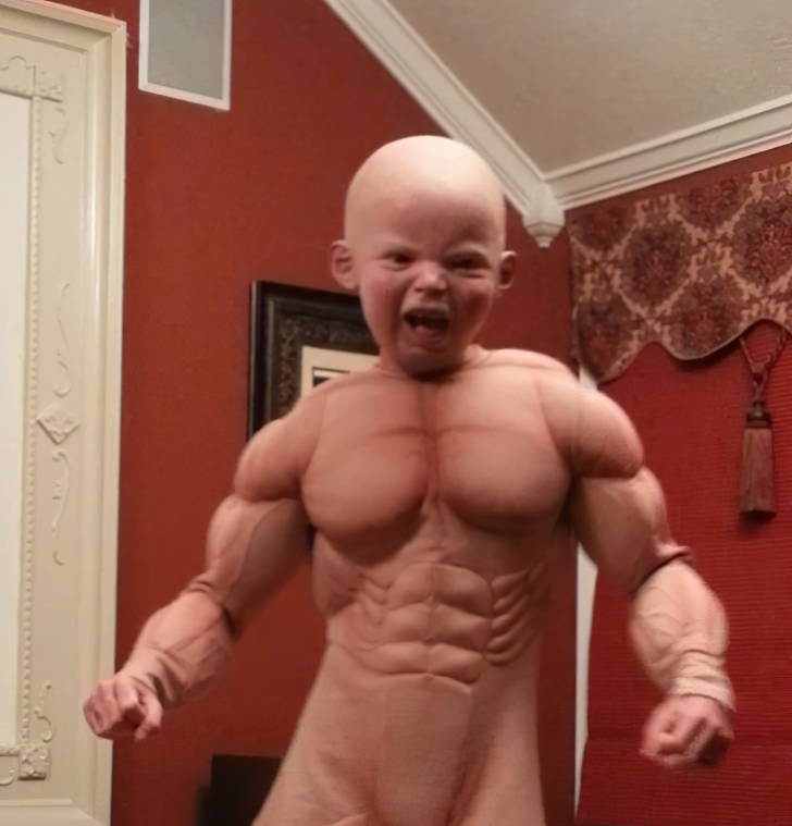 baby muscle costume