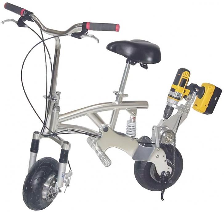 drill powered bike