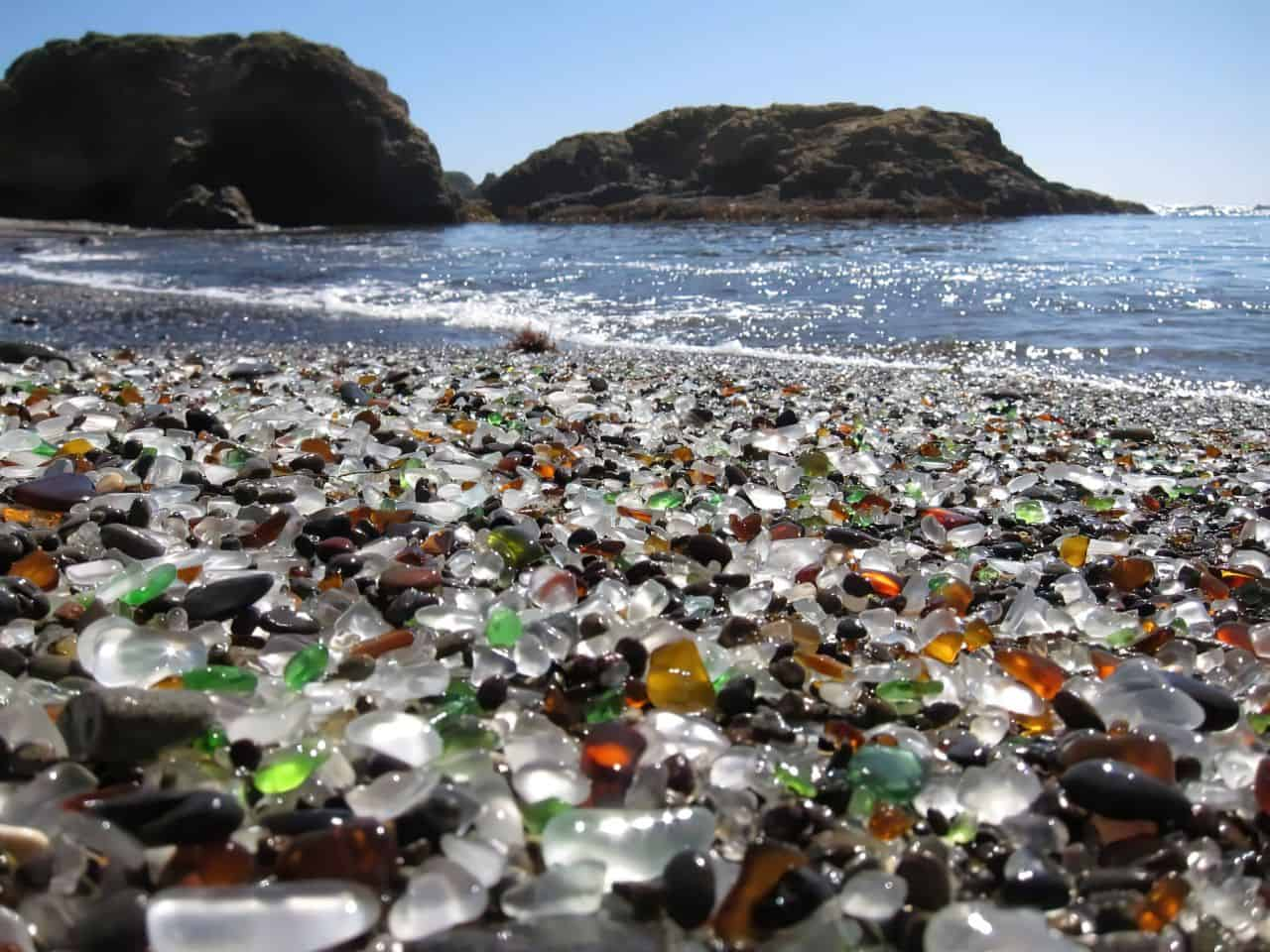 glass beach stones