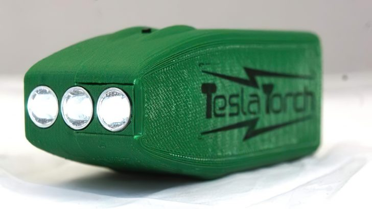 green tesla flashlight