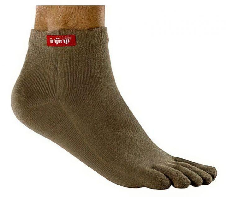injinji socks on feet