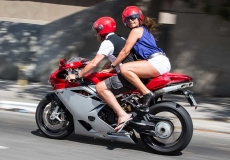 people riding motorcycle