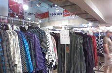 sample sale clothing racks