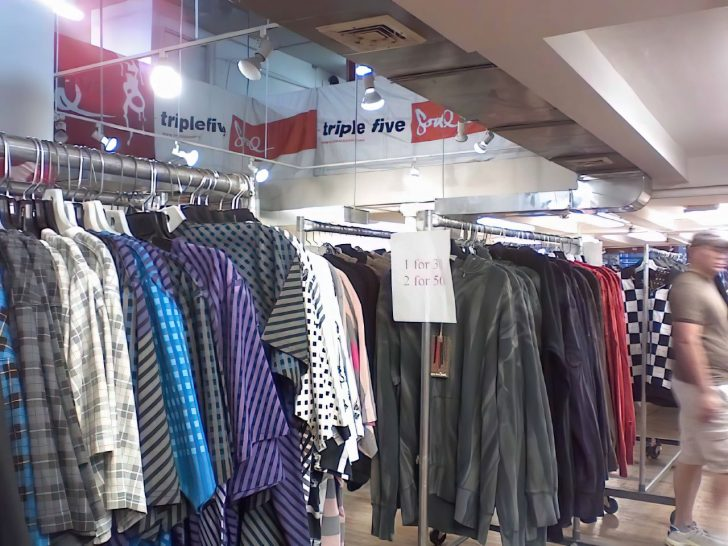 sample sale clothing racks
