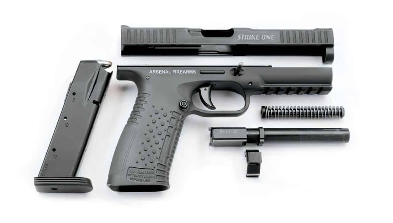strike one pistol disassembled