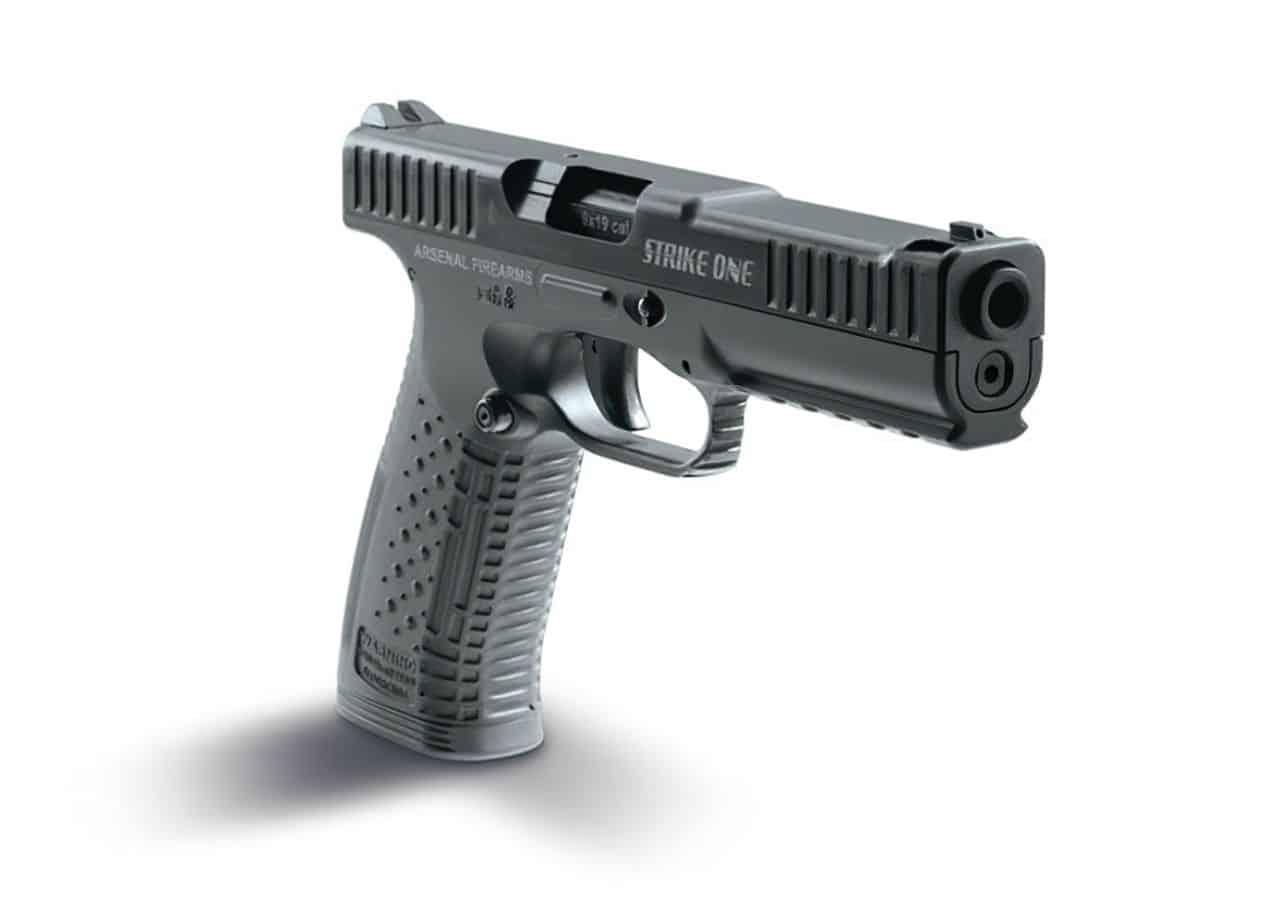 strike one pistol standing