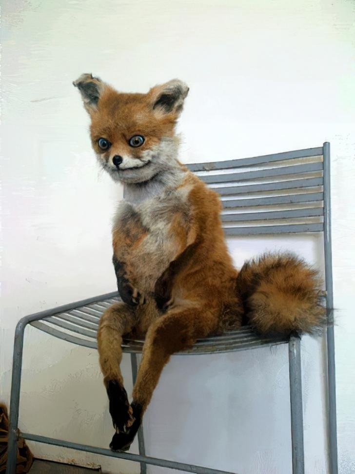 terrible taxidermy fox