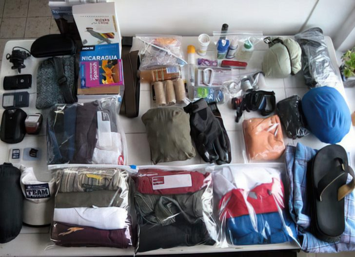 travel packing list items