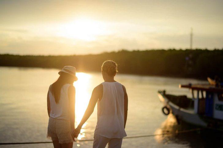 romantic summer couple
