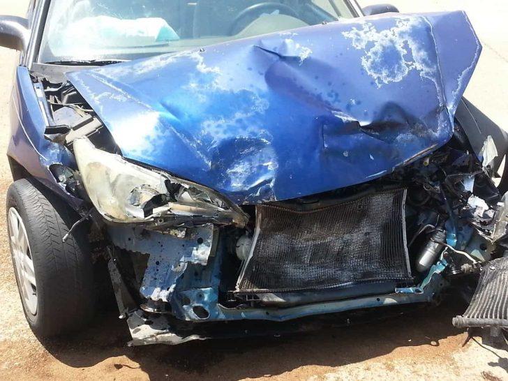 super smashed car