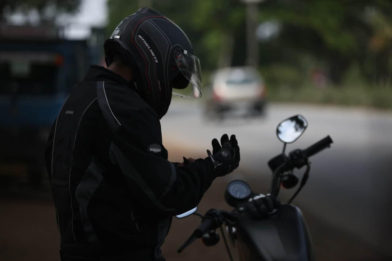 motorcycle rider helmet