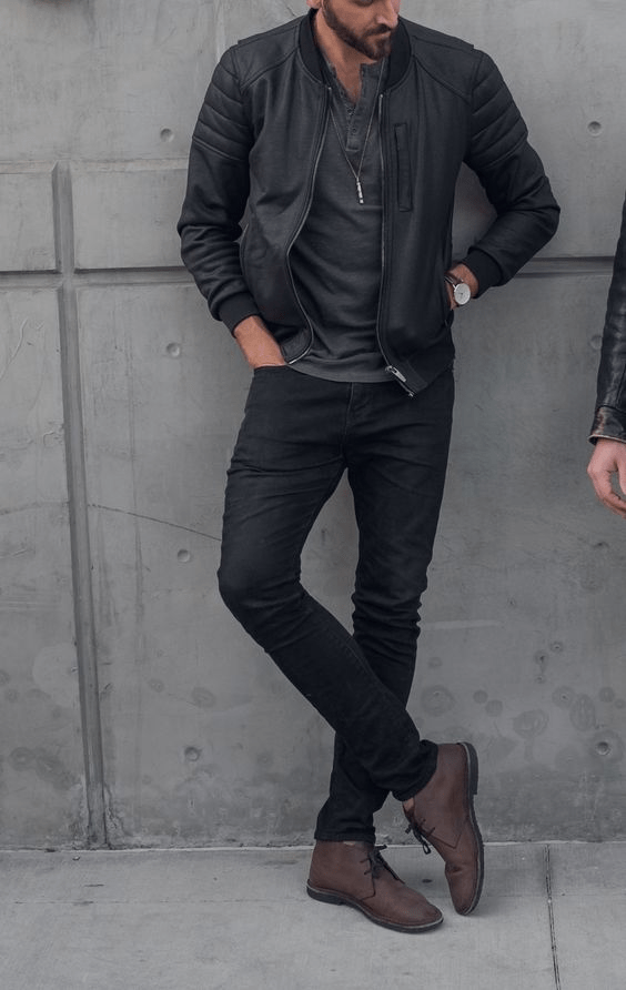 Totally Black Outfit Ideas For Men