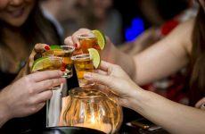 ladies drinking tequila