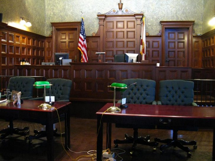 fancy american courtroom