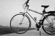 hybrid bike outside