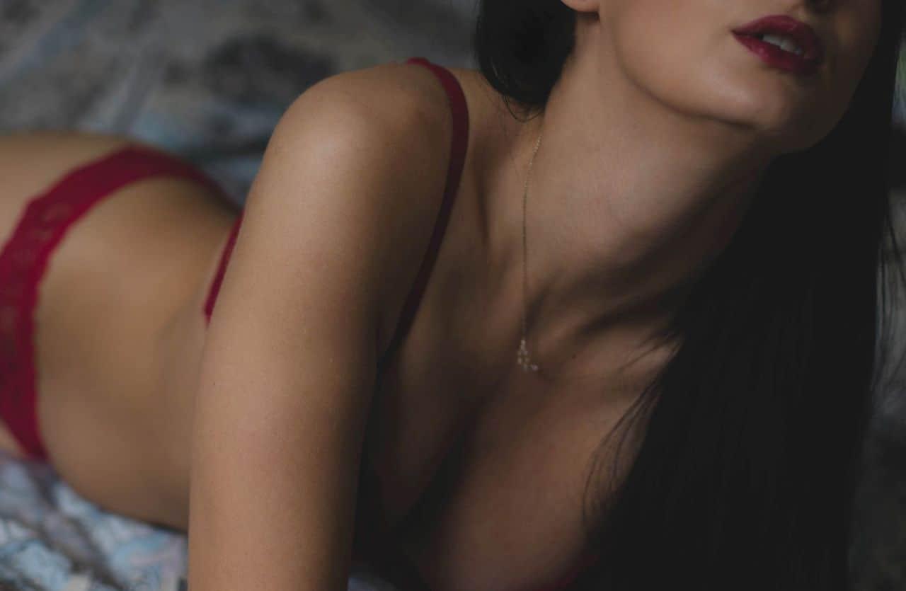 sexy woman laying around