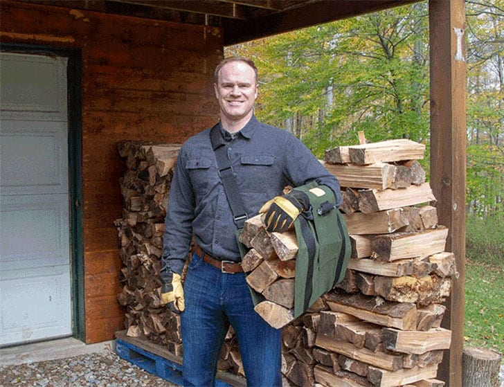 woodox carrying wood