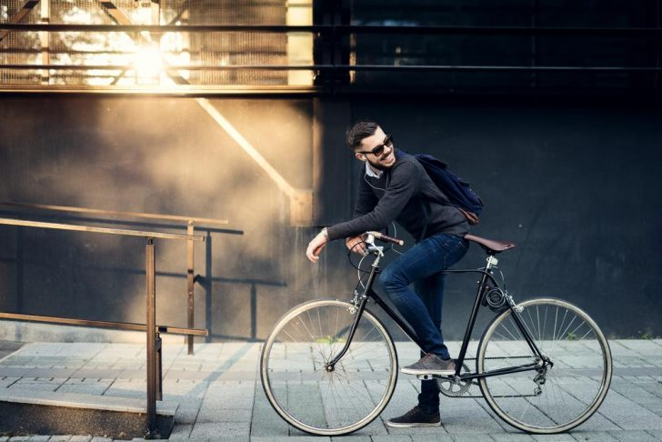 person cycling work
