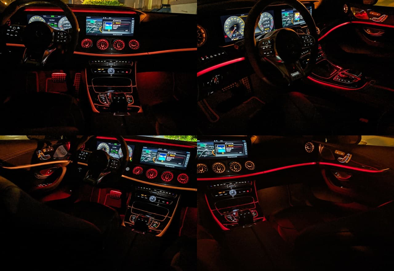 2020 Mercedes AMG CLS 53 interior collage