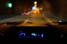 night driving tunnel